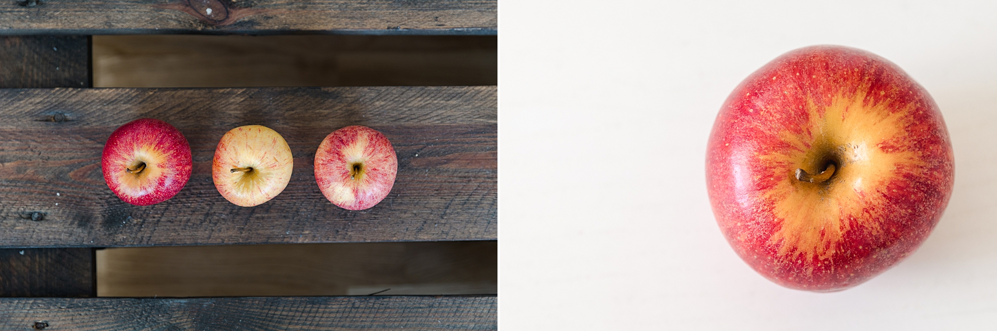 A collage of closeup photos of apples